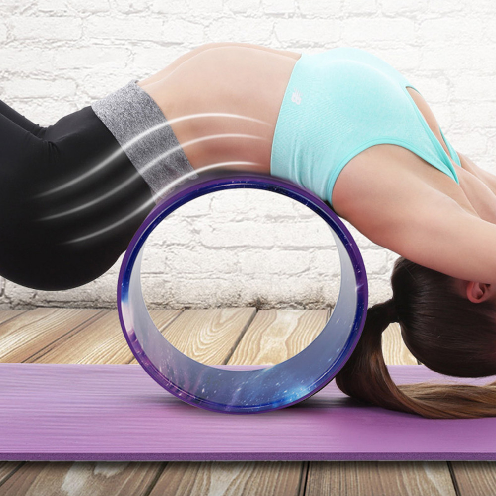 Starry Yoga Wheel Strongest & Most Comfortable Dharma Yoga Prop Wheel For Stretching and ...