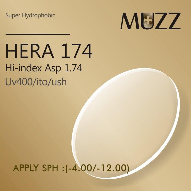 MUZZ1.74 lentilles asphériques en résine de Prescription d'index pour
