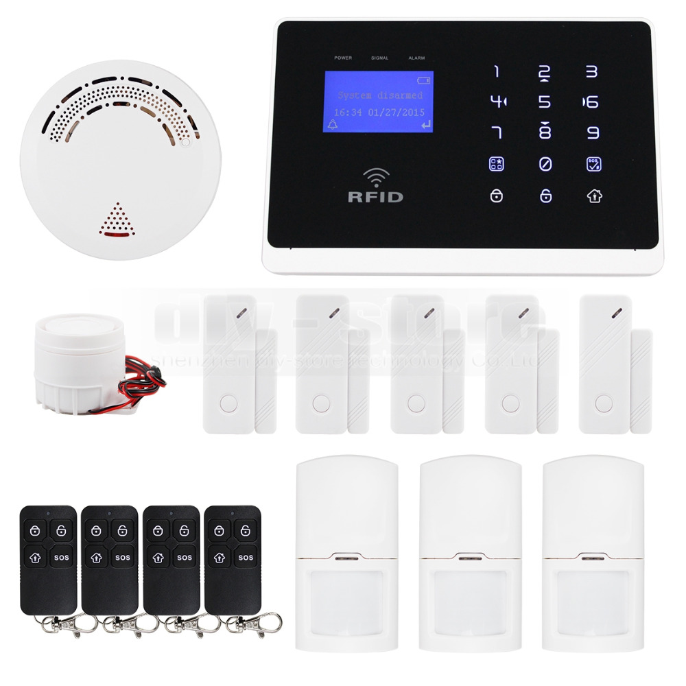DIYSECUR Android IOS App Wireless GSM Autodial Home Office Burglar Intruder font b Alarm b font