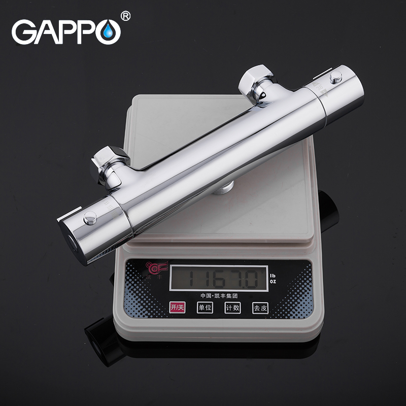 GAPPO bathroom shower faucet set thermostatic shower chrome bathroom mixer wall mounted thermostat shower mixer tap bathtub taps