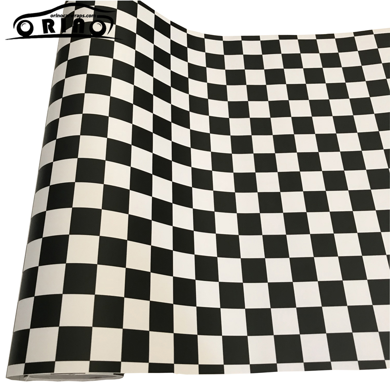 Checkered Flag Black White Vinyl Film Sticker