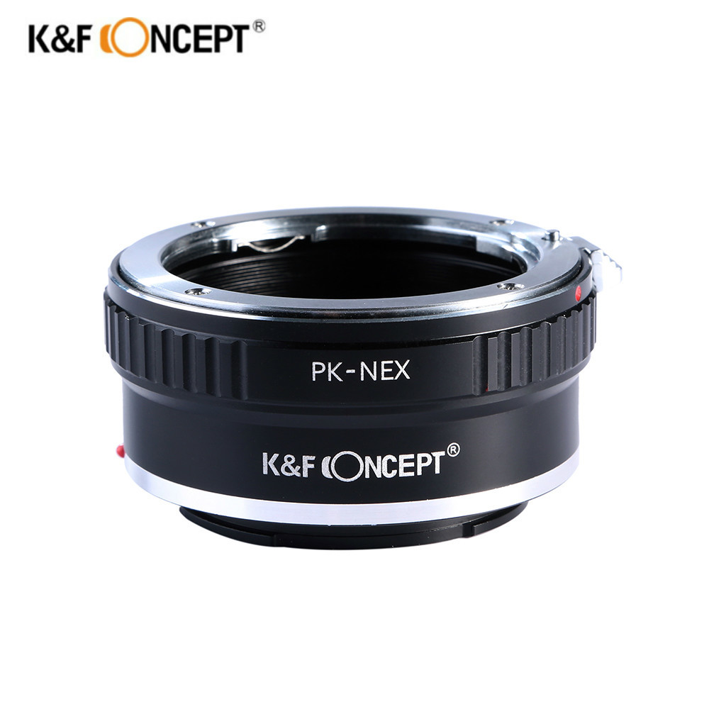K&F Concept Lens Mount Adapter for Pentax PK K Mount Lens to Sony NEX E-Mount Camera NEX-3 NEX-3C NEX-3N NEX-5 NEX-5C NEX-5N meida universal speedlight to hot shoe adapter for sony nex 3 nex 3c more silver