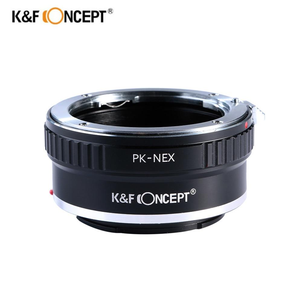 K&F Concept Lens Mount Adapter for Pentax PK K Mount Lens to Sony NEX E-Mount Camera NEX-3 NEX-3C NEX-3N NEX-5 NEX-5C NEX-5N meida universal speedlight to hot shoe adapter for sony nex 3 nex 3c more silver page 5