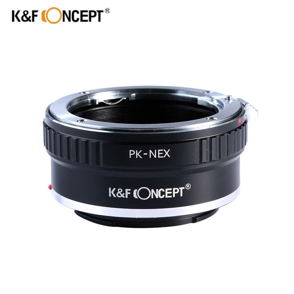 K & F Concept Lens Mount Adapter pour Pentax PK K Mount Lens pour Sony NEX E-mount Caméra NEX-3 NEX-3C NEX-3N NEX-5 NEX-5C NEX-5N