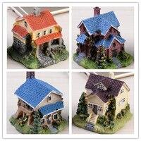 Simulation Villa Micro World Accessories Bonsai Miniature Craft Landscape Home Decoration Garden Decoration Children S Gift
