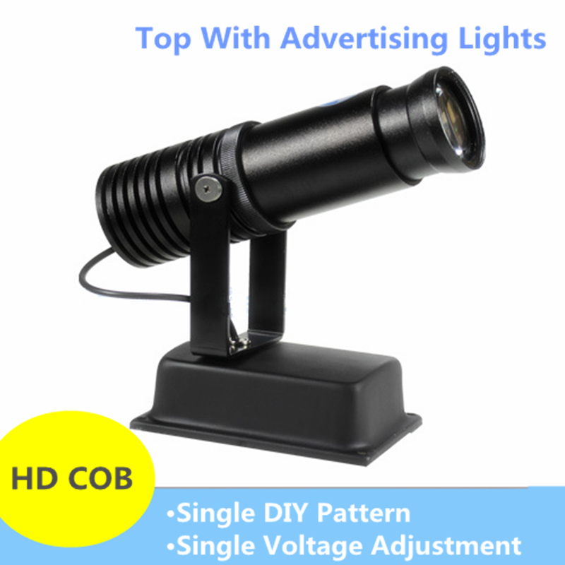 LED HD Projection Advertising DIY LOGO Custom Lmage Projector Lamp 20W Shop Mall Restaurant Welcome Laser Sense Timing Light NEW