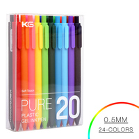 20 Colors 0 5MM Lovely Candy Ballpoint Pen Good Quality Gel Pen Kawaii Plastic Ball Pen