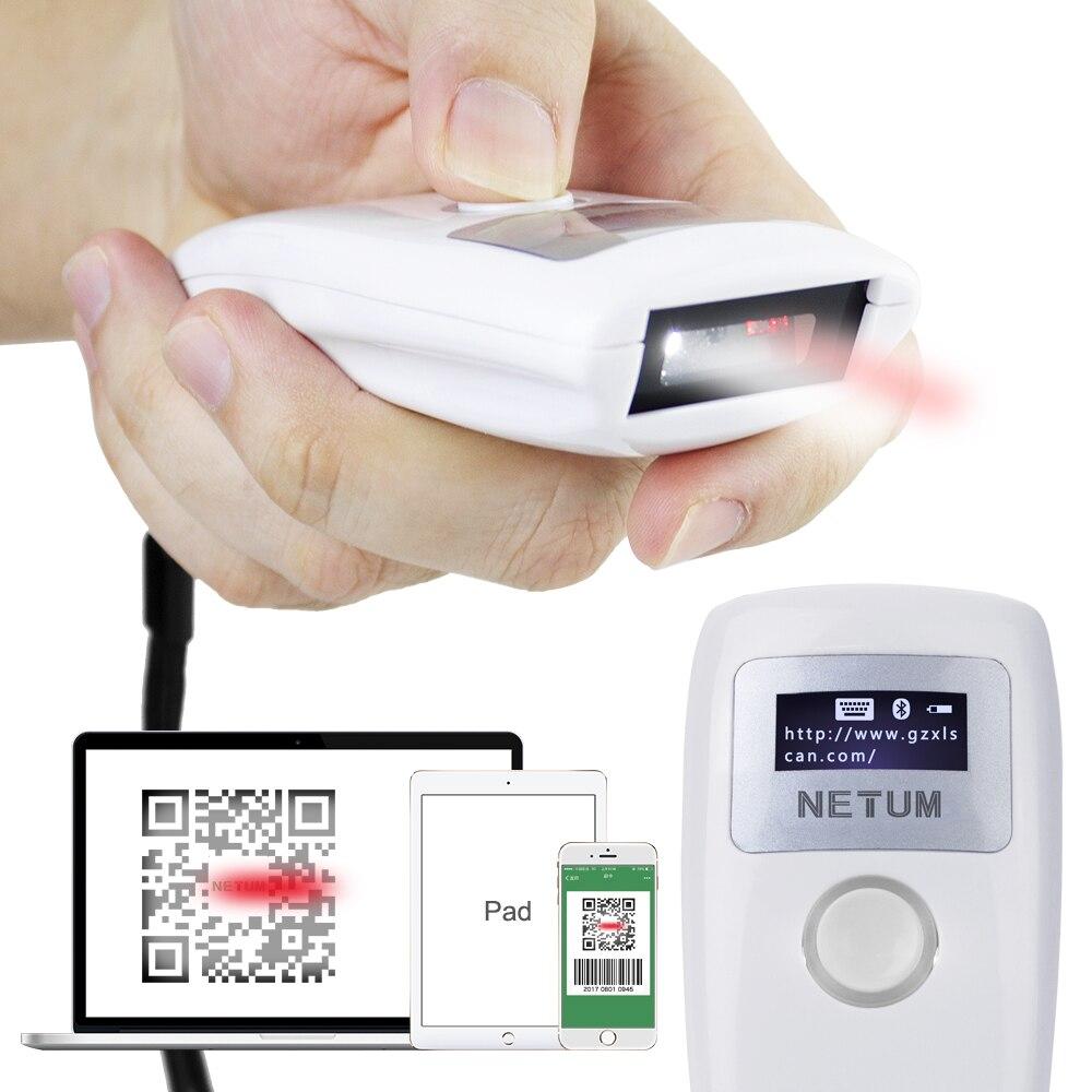 Z3S Беспроводной Bluetooth CCD сканер штрих-кода и Портативный Z2S Bluetooth 2D QR pdf417 штрих-кодов для Android ios iphone NETUM