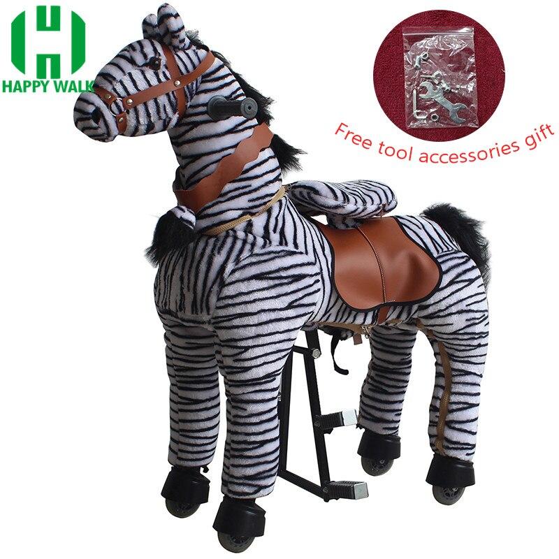 Balade mécanique à cheval sur des jouets pour animaux pour 7-14 ans enfants adultes marche poney zèbre jouets promenades cheval Scooter cadeaux pour enfants