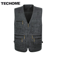 2018 Summer Casual Men Vest Sleeveless Jacket Male Plus Size Vest Men Multi Pocket Vest Men Deporte Pography Vest Xl 5Xl