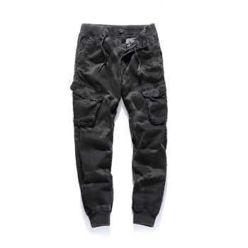 Brand New Men's Camouflage Pants 2018 Designer Cotton Male Street Casual Harem Pants For Men Plus Size Cargo Pants 30-38 AF6503B