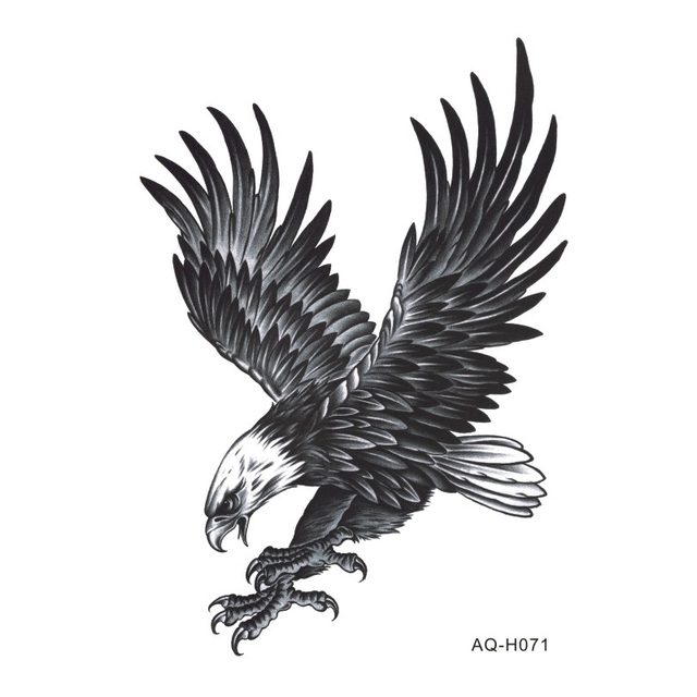 Large Arm Sleeves Temporary Tattoo Sticker Power Eagle Arm Art Tattoo Male Half Indian Totem Fake Tatoo For Men BH-071