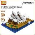 Ideas del bloque de diamante loz edificio de la ciudad de sydney opera house australia juegos clásicos mini arquitectura juguetes modelo forge world 9379