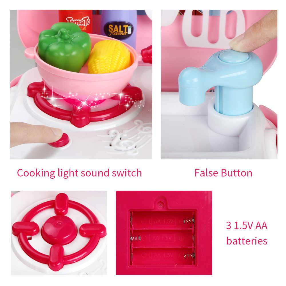 Dziecko miniaturowa kuchnia plastikowa udawaj zagraj w jedzenie dzieci zabawki Mini zabawka kuchenna zestaw dla dzieci dzieci dziewczyny gry