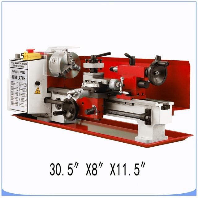 Mini high Precision DIY Shop Benchtop Metal Lathe Tool Machine Variable Speed Milling