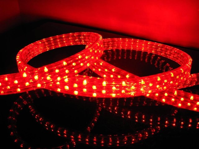 100m/roll LED 5 wires flat rope light;36leds/m;size:11mm*28mm;DC12V/24V/AC110/220V are optional;red color