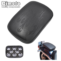 Bjmoto Motorcycle 8 Suction Cup Pillion Anti Slip Rectangular Rear Pad Seat For Harley Moto flame Cruiser Chopper Custom Cushion