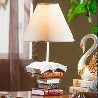 Домашняя настольная лампа фестиваль огней европейской классической спальни настольная лампа исследование Творческий Ретро Книга настоль