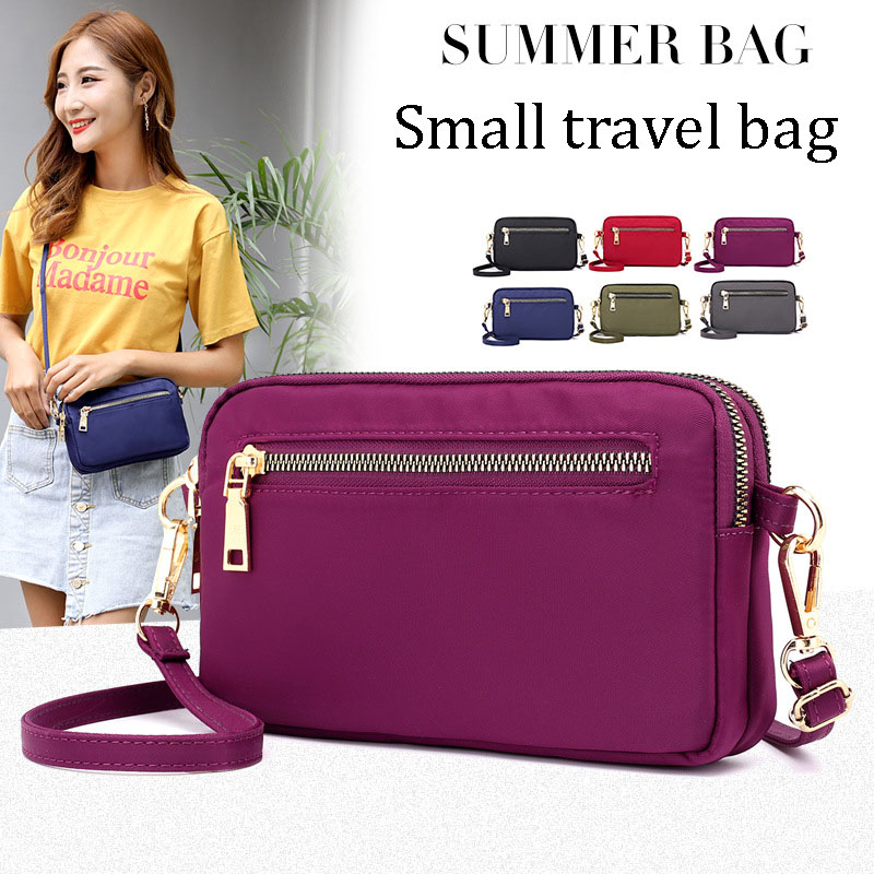 Hot Cheap Women Nylon Water Proof Shoulder Bag High Quality Travel Crossbody Long Wallet Bags Passport Holders Small Phone Bag
