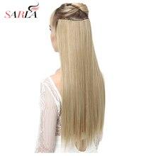 """SARLA 24 """"60cm 200 יח\חבילה ארוך ישר קליפ בתוספות שיער לנשים עמיד טמפרטורה גבוהה סינטטי Hairpieces 666"""