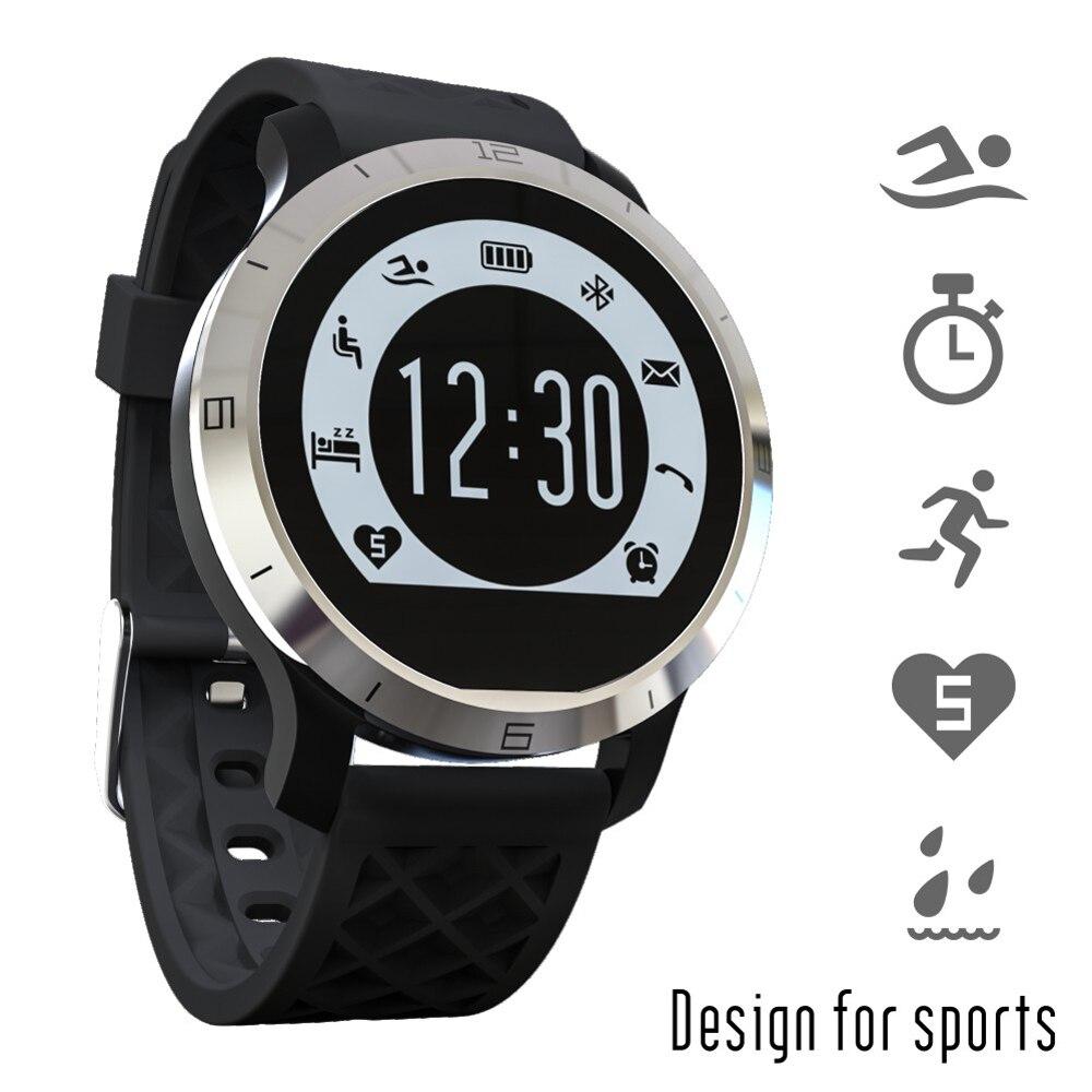 imágenes para Bluetooth smart watch f69 ip68 a prueba de agua natación smartwatch podómetro sleep monitor de ritmo cardíaco recordatorio sedentario ios android