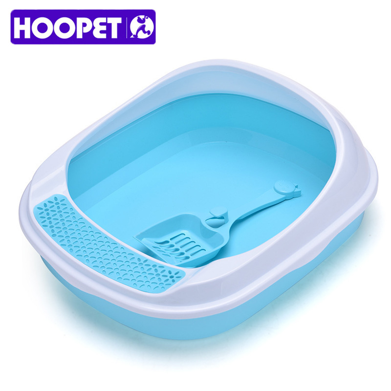 Semi-closed Pet Cat Litter Box Sand Box Plastic Anti-Splash Reusable Cat Tray Bedpans Pet Toilet Cleaning Supplies