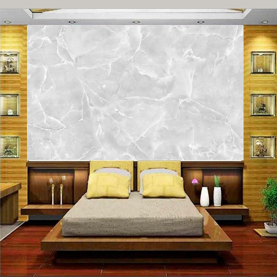3d wallpaper photo wallpaper custom 3d wall mural bedding room white marbled stone painting sofa TV background non-woven sticker