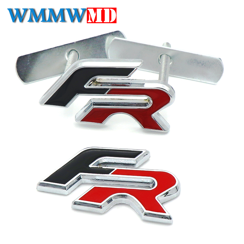 Metal FR Racing Car Front Hood Grille Badge rear Emblem car tail sticker for Audi BMW SEAT Ibiza Leon Altea Car Styling цены