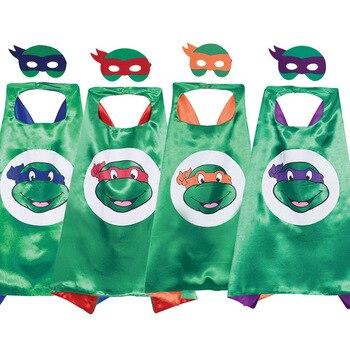 Máscara de Tortuga Ninja capa Regalo de Cumpleaños niño mostrar ropa maquillaje vestido Super héroe Halloween cumpleaños fiesta juguetes de decoración para niños