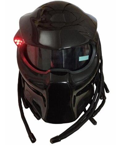 2017 nouveau noir mat/noir brillant prédateurs casque masque en fibre de verre moto rcycle Iron Man casque casque de moto intégral