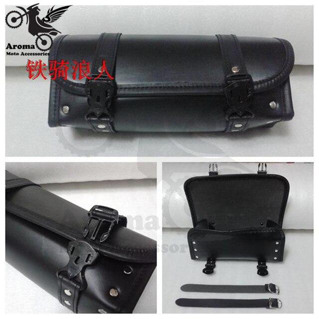 Black Princes Car Motorcycle Saddle Bags Cruiser Tool Bag Luggage For Harley Davidson Tail
