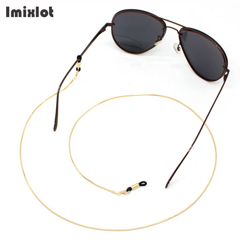 Gold 1.5MM Thin Snake Chain For Women Eyeglass Eyewears Sunglasses Reading Metal Glasses Chain Cord Holder Neck Strap Rope