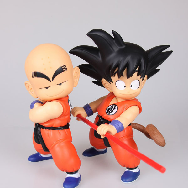Dragon Ball Z Goku Kuririn PVC Action Figure Dragonball 18cm-21cm Free shipping 2 pcs/Lot