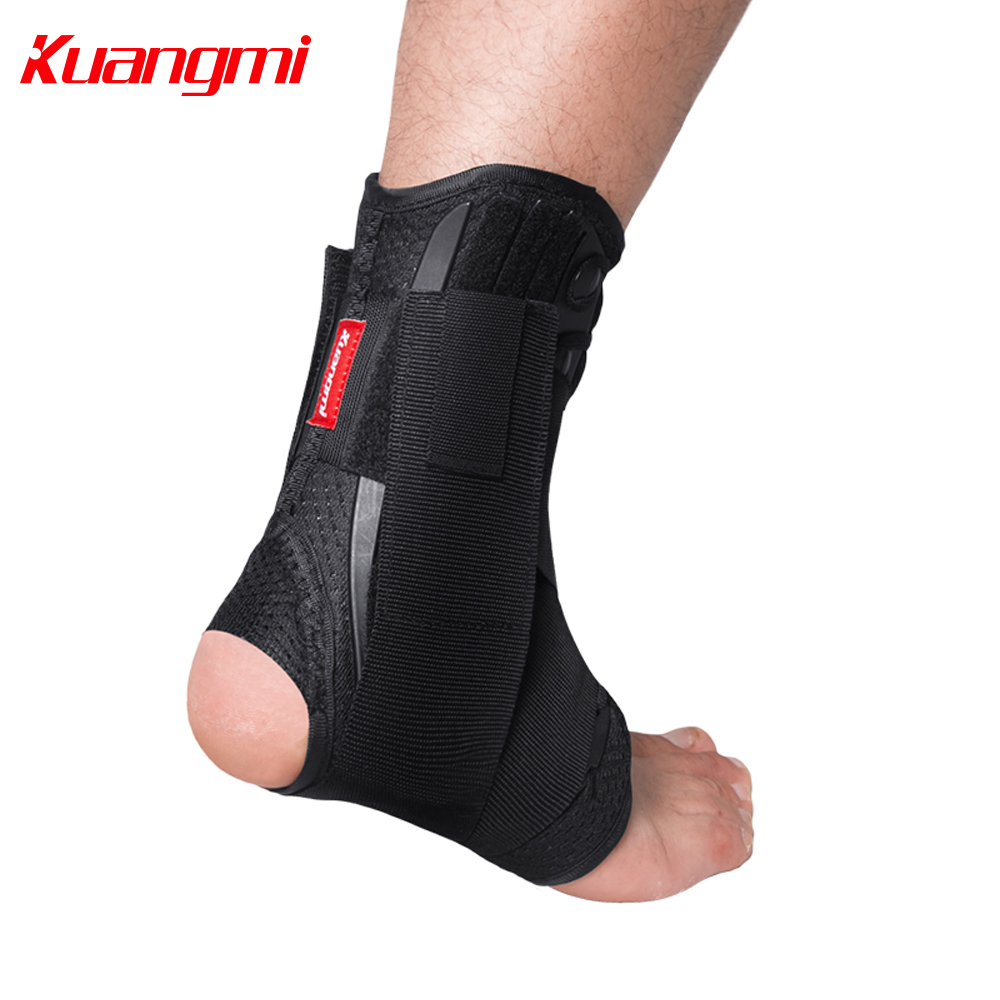 Kuangmi Adjustable Ankle Brace Immobilized 2 PCS Ankle Support Brace Foot Stabilizer Sprain Injury Guard Protector
