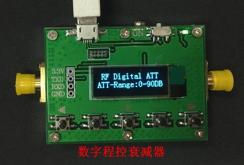3G Digital Programmable Attenuator 30DB 60DB 90DB Step 0 5DB OLED Display CNC Shell