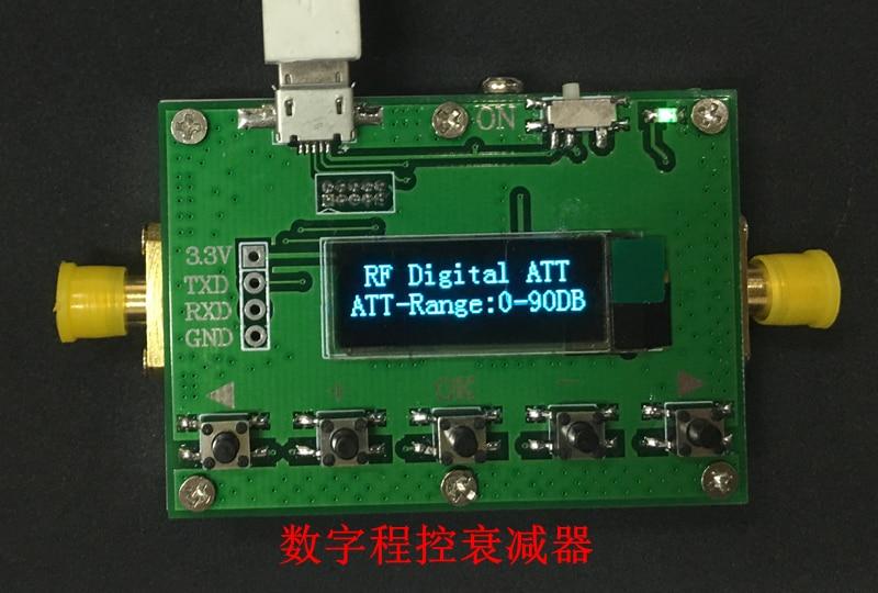 3G Digital Programável Atenuador 30DB 60DB 90DB Passo 0.5DB OLED Display Shell CNC