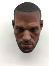 1/6 scale Basketball Player LEBRON JAMES Head sculpt fit 12 figure body
