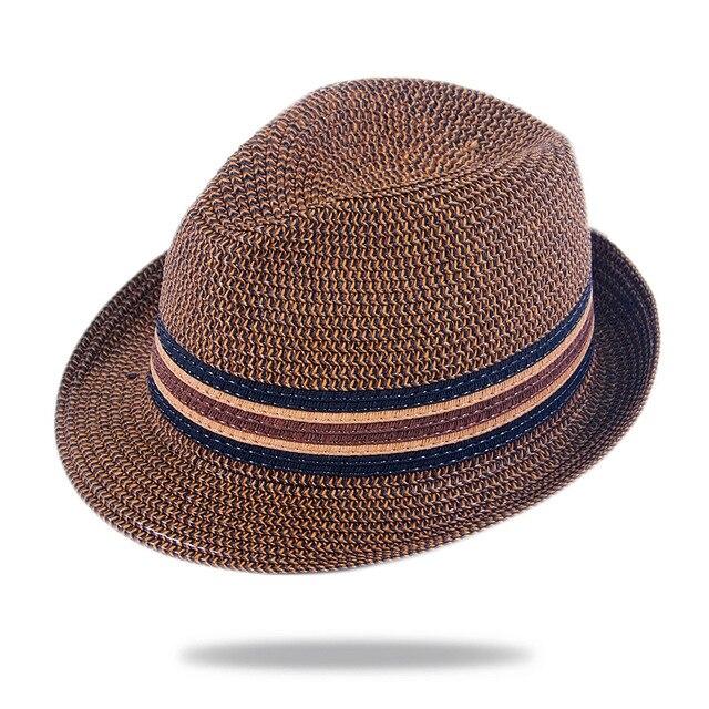 2017 fresco Respirable Del Sombrero de Panamá para Hombre Simple ...