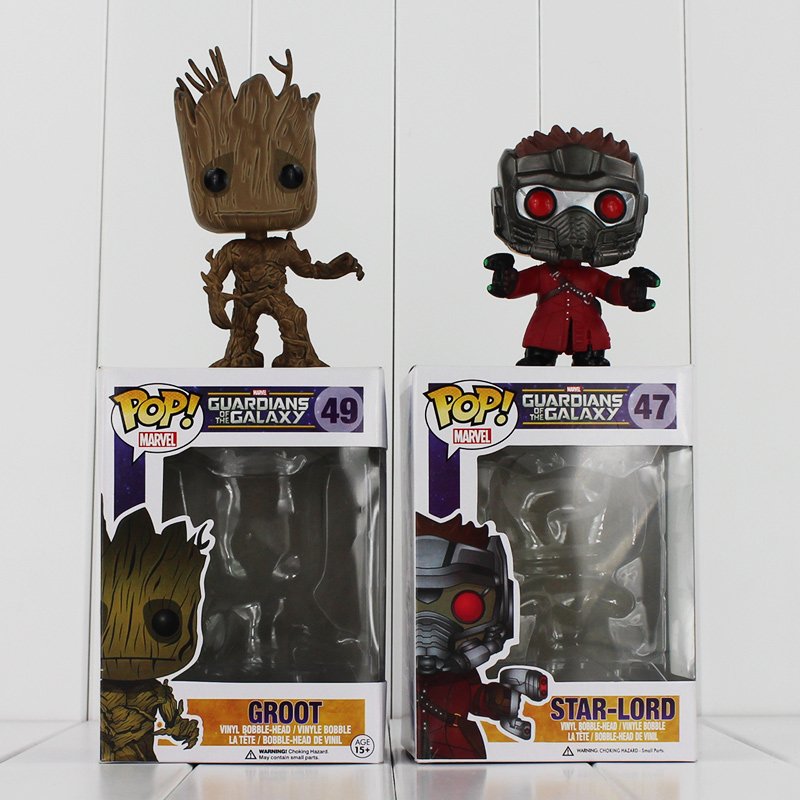 Funko POP Guardians of The Galaxy Star-Lord Groot Figure Toy POP 47 49 Vinyl Model Doll for Collection new funko pop guardians of the galaxy tree people groot