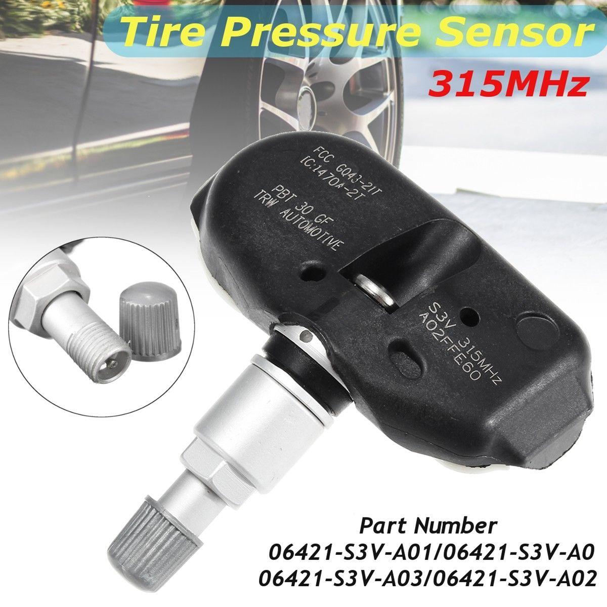 Tire Pressure Sensor TPMS 315MHz 06421 S3V A04 For Acura