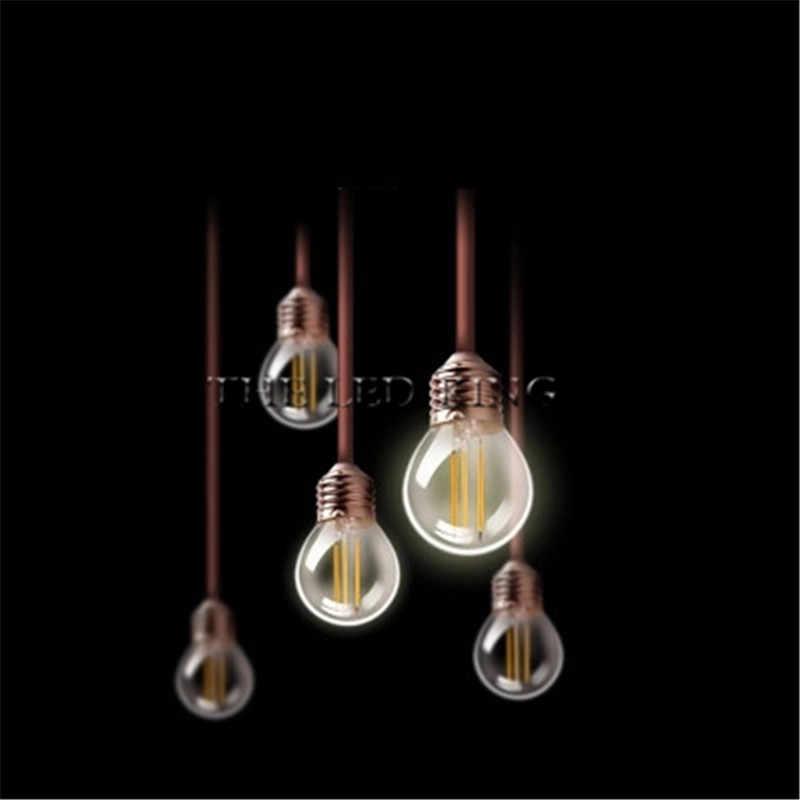 E27 E14 24 w 18 w 12 w clair verre dépoli LED ampoule à Filament A60 G45 C35 ST64 220 v AC bougies LED lampe lumière 230 v AC lumière intérieure