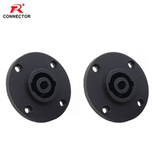 1pc 4 Pin Speakon connector Panel Mount female socket for NL4FC/NL4FX speakon male plug