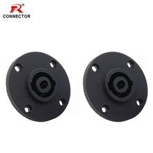 4pcs 4 Pin Speak connector Panel Mount female socket for NL4FC/NL4FX speak male plug