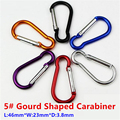 20PC/Lot 5# Aluminum Alloy Mini Gourd Shaped Carabiner Spring Clip Buckle For Outdoor Camping Hiking EDC Gear Mosqueton AA14-20P