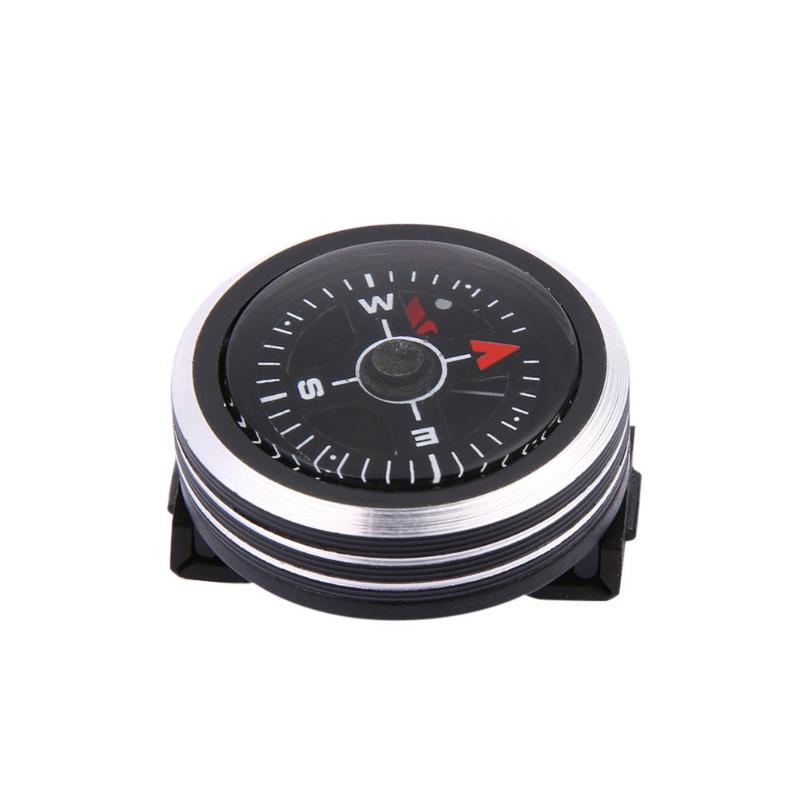 Survival Mini Pocket Compass Liquid Filled Button Design Compass Hiking Camping Outdoor Tools 25 X 25 X 10mm Dropshipping