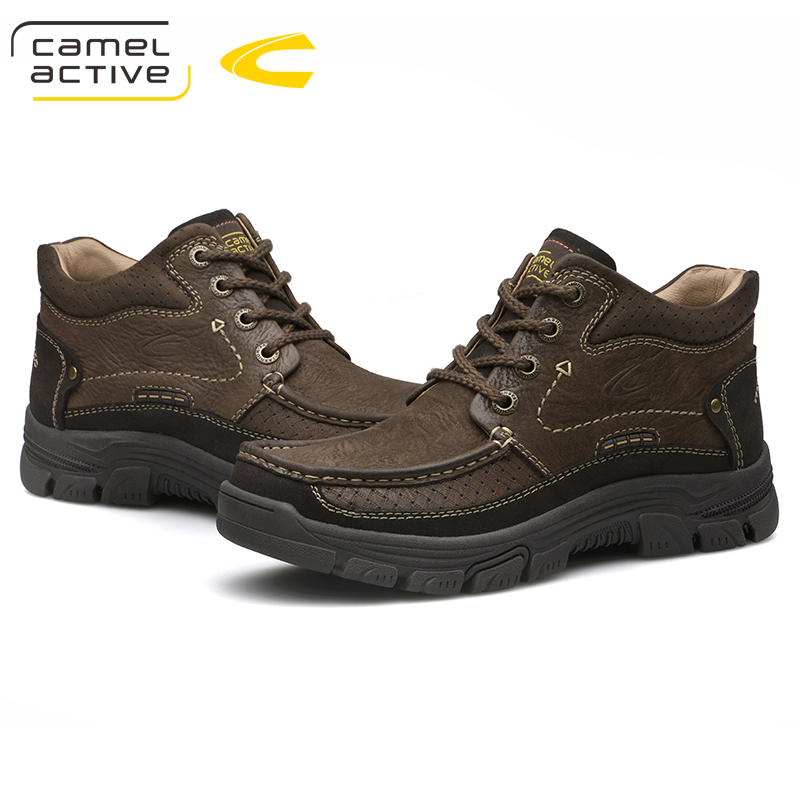 Image 3 - Camel Active New Outdoor Winter Snow Boots High Quality Mens  Riding Boots Luxury Genuine Cow Leather Fashion Ankle BootsSnow Boots