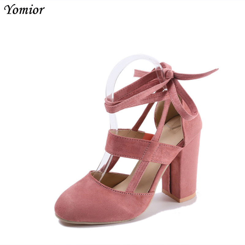 Yomior Brand Shoes Woman High Heels Pumps Suede High Heels 8CM Women Shoes High Heels Wedding Party Shoes Pumps Black Pink hot fashion new high heeled shoes woman pumps wedding party shoes platform fashion women shoes high heels 11cm suede black 8size
