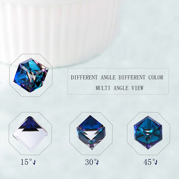 HTB1sg6ibqSs3KVjSZPiq6AsiVXay Warme Farben Crystal from Swarovski 925 Silver Earrings Drop Earring Square Cube Dangle Earring Fine Jewelry Gift Lady Brincos