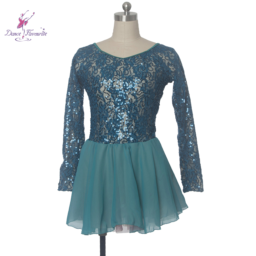 green sequin lace bodice ballet costume tutu dress girl stage performance ballet costume tutu women Lyrical & comtemporary dress