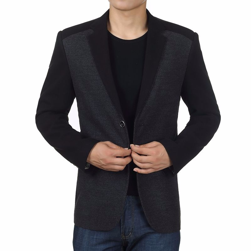 Man Elegance Basic Blazer Black Slim Fit Jackets Men Business Casual Short Blazers Plus Size Terno Masculino Outfits Costume Homme (3)